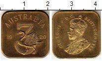 Изображение Монеты Австралия 3 пенса 1920 Латунь UNC-