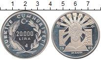 Изображение Монеты Турция 20000 лир 1989 Серебро Proof-