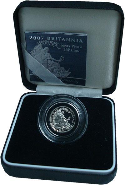 Изображение Подарочные монеты Великобритания 20 пенсов 2007 Серебро Proof