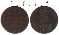 Изображение Монеты Германия Ганновер 2 пфеннига 1817 Медь XF