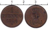 Изображение Монеты Германия Ганновер 1 пфенниг 1846 Медь XF