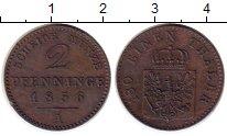 Изображение Монеты Германия Пруссия 2 пфеннига 1856 Медь XF