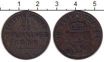 Изображение Монеты Германия Пруссия 4 пфеннига 1850 Медь XF-