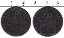 Изображение Монеты Германия Пруссия 4 пфеннига 1832 Медь VF