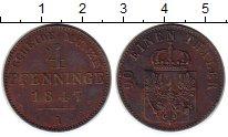 Изображение Монеты Германия Пруссия 4 пфеннига 1847 Медь XF