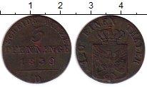 Изображение Монеты Германия Пруссия 3 пфеннига 1839 Медь XF-