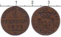 Изображение Монеты Германия Пруссия 1 пфенниг 1838 Медь XF