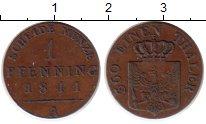 Изображение Монеты Германия Пруссия 1 пфенниг 1841 Медь XF