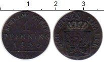 Изображение Монеты Германия Пруссия 1 пфенниг 1835 Медь XF
