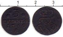 Изображение Монеты Пруссия 3 пфеннига 1790 Медь VF