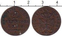 Изображение Монеты Германия Пруссия 2 пфеннига 1839 Медь XF