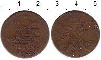 Изображение Монеты Германия Пруссия 3 пфеннига 1760 Медь VF