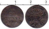 Изображение Монеты Германия Восточная Фризия 1/2 стюбера 1772 Серебро VF