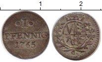 Изображение Монеты Германия Саксония 1 пфенниг 1765 Серебро XF-