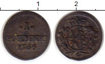 Изображение Монеты Германия Саксония 1 пфенниг 1765 Серебро VF