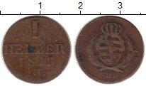 Изображение Монеты Германия Саксония 1 геллер 1813 Медь VF