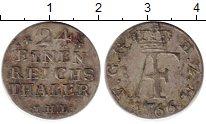 Изображение Монеты Германия Мекленбург-Стрелитц 1/24 талера 1766 Серебро XF-
