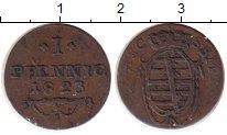 Изображение Монеты Германия Саксен-Кобург-Саалфелд 1 пфенниг 1823 Медь XF