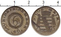 Изображение Монеты Германия Саксе-Мейнинген 6 крейцеров 1808 Серебро VF