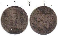 Изображение Монеты Гессен-Дармштадт 2 крейцера 1744 Серебро VF