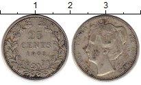 Изображение Монеты Нидерланды 25 центов 1903 Серебро XF
