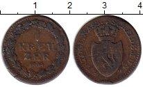 Изображение Монеты Германия Нассау 1 крейцер 1808 Медь XF