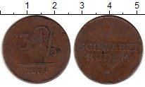 Изображение Монеты Германия Шварцбург-Рудольфштадт 3 пфеннига 1804 Медь VF