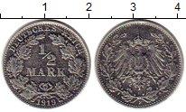 Изображение Монеты Германия 1/2 марки 1919 Серебро XF-