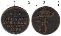 Изображение Монеты Германия Вальдек-Пирмонт 1 пфенниг 1799 Медь VF