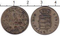Изображение Монеты Вюртемберг 6 крейцеров 1839 Серебро XF-