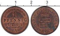 Изображение Монеты Саксен-Веймар-Эйзенах 1 пфенниг 1865 Медь XF