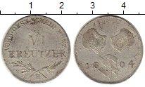 Изображение Монеты Европа Швабия 6 крейцеров 1804 Серебро VF