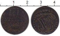 Изображение Монеты Германия Берг 3 стюбера 1805 Медь VF