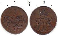 Изображение Монеты Саксен-Веймар-Эйзенах 1 пфенниг 1761 Медь VF