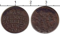 Изображение Монеты Германия Саксе-Кобург-Саалфельд 1 пфенниг 1798 Медь VF