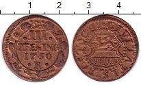 Изображение Монеты Росток 3 пфеннига 1750 Медь XF