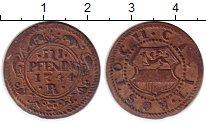 Изображение Монеты Росток 3 пфеннига 1744 Медь XF