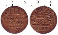 Изображение Монеты Росток 3 пфеннига 1761 Медь XF