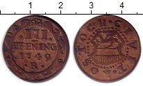 Изображение Монеты Росток 3 пфеннига 1749 Медь XF