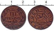 Изображение Монеты Росток 3 пфеннига 1740 Медь XF