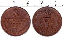 Изображение Монеты Германия Ольденбург 3 шварена 1858 Медь XF