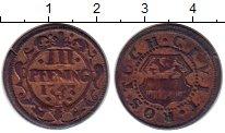 Изображение Монеты Германия Росток 3 пфеннига 1747 Медь XF