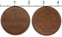 Изображение Монеты Бавария 1/2 крейцера 1851 Медь XF