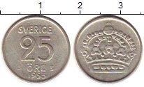 Изображение Монеты Европа Швеция 25 эре 1953 Серебро XF