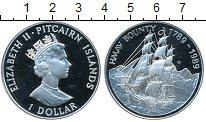 Изображение Монеты Великобритания Острова Питкэрн 1 доллар 1989 Серебро Proof-