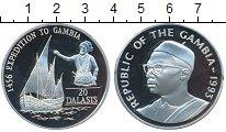 Изображение Монеты Гамбия 20 даласи 1993 Серебро Proof Экспедиция  в  Гамби