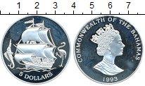 Изображение Монеты Багамские острова 5 долларов 1993 Серебро Proof