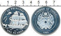 Изображение Монеты Австралия и Океания Тонга 1 паанга 1993 Серебро Proof