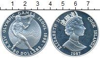 Изображение Монеты Острова Кука 50 долларов 1987 Серебро Proof- Олимпийские игры