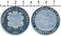 Изображение Монеты Андорра 10 динерс 2003 Серебро Proof-